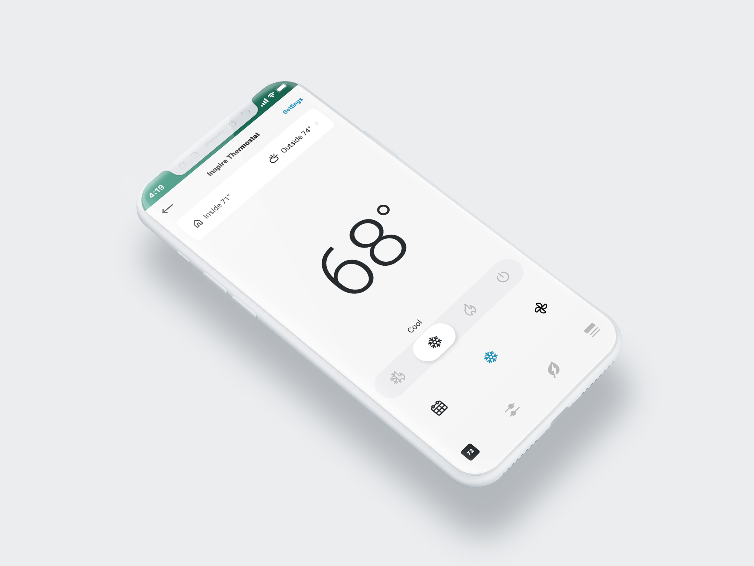 Product inspireapp temperature